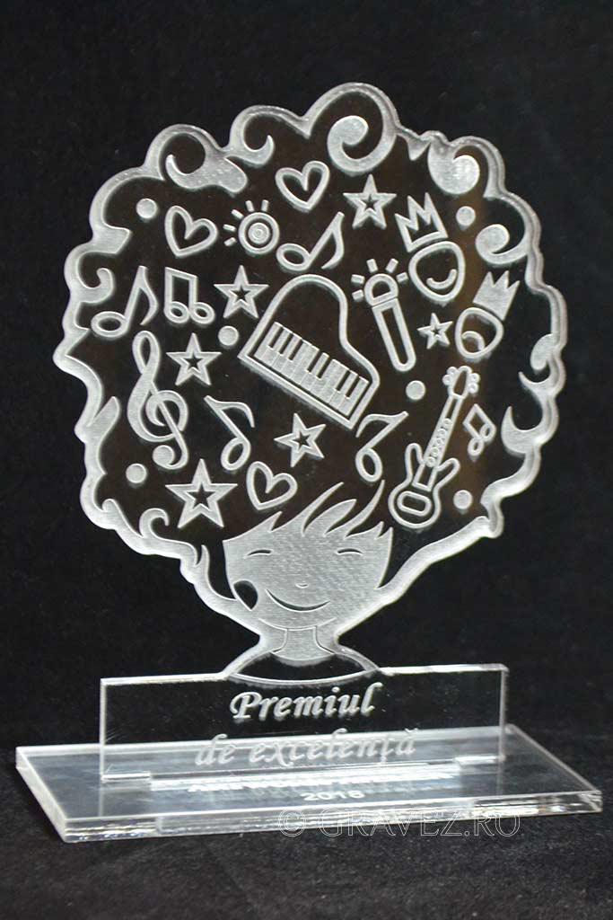 trofeu acril gravat laser copii