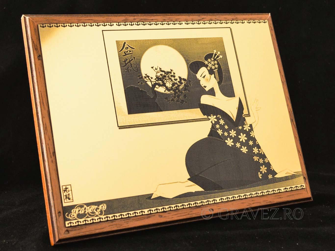 Fotogravura tablou in metalex cu rama pentru cadouri, aniversare persoane, zile de nastere