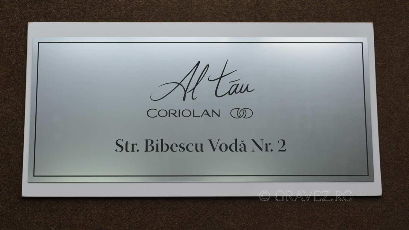 placa firma gravura metalex 60x30cm